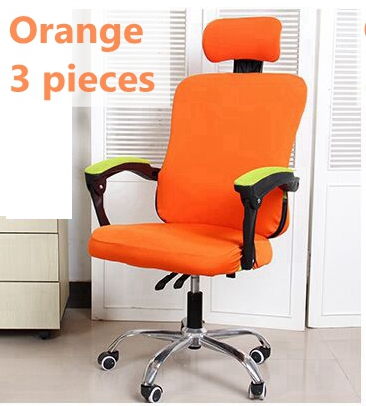 Pure Color Separate Style Office Chair Cover Easy Install Elastic