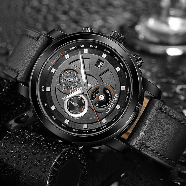 CADISEN Waterproof Mens Watches Top Brand Luxury Business Quartz Watch Men Military Sports Casual Clock Relogio Masculino