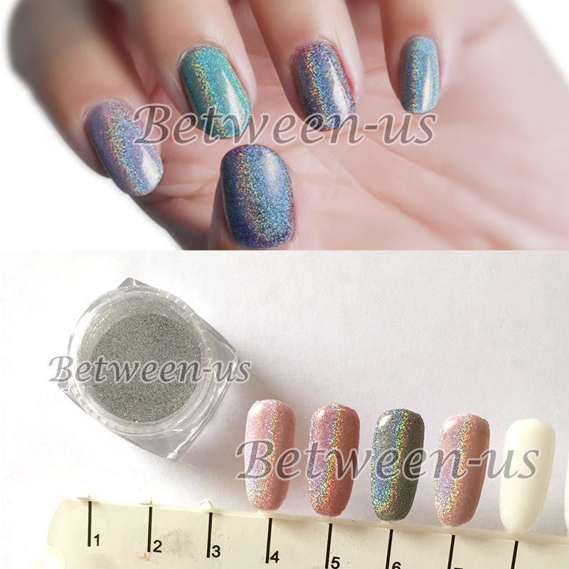 New 1g Nail Laser Powder Holographic Laser Silver Glitter Nails Art Manicure UV Tip Powder Dust Nail Tips Decoration Colorful