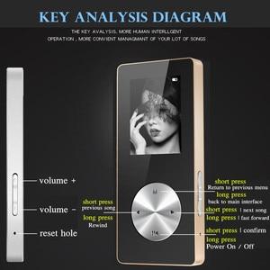 """Image 4 - 1.8 """"bezprzewodowy odtwarzacz Bluetooth HiFi HD MP3 MP4, bezstratny bas radiowy Mic słuchawki, szybkie ładowanie kabla USB, głośnik nagrywanie FM i gniazdo TF"""