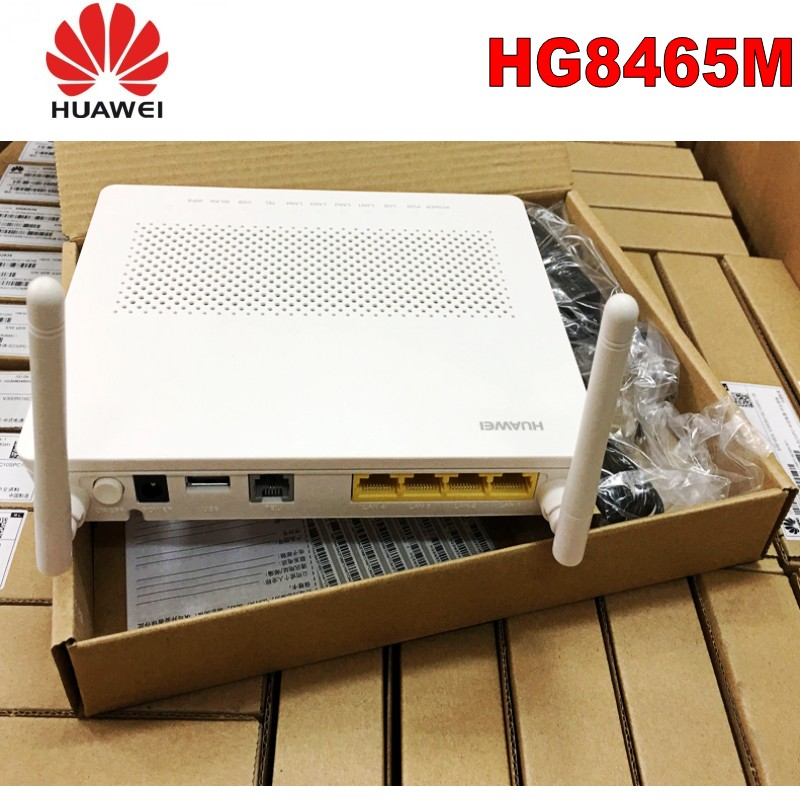 lot of 100pcs 100% <font><b>Huawei</b></font> HG8546M Gpon Ont <font><b>onu</b></font> 2POTS 4FE 1USB <font><b>WiFi</b></font> modem with English image