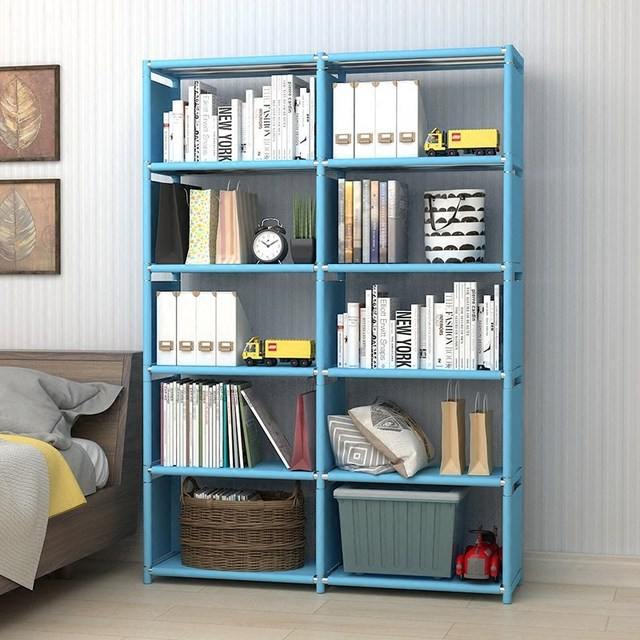 Minimalist Modern Bookshelf Multi Functional Students Book Shelf DIY  Combination Reinforcement Storage Cabinet