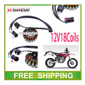 250CC SHINERAY X2 X2X XY250GY motorcycle stator magneto coil 12V 18 coils accessories free shipping