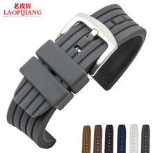 LaopijiangSilicone estilos de goma con impermeable anti sudor correa general de hombres y mujeres reloj con 22mm