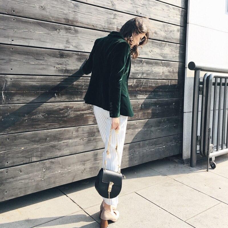 Frühling und Herbst neue Slim gold samt kleine klagejacke weibliche freizeit blazer//samt lange anzug blazer