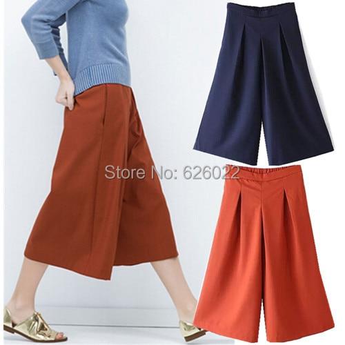 wide leg gaucho pants - Pi Pants