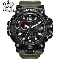 SMAEL Brand Dual Display Wristwatches Military Alarm Quartz Clock Male Gift S Shock Men S Sports
