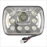 55W Hi Lo Beam 7x6 7x5 LED Headlights Insert With Angel Eyes H4 Plug For Wrangler