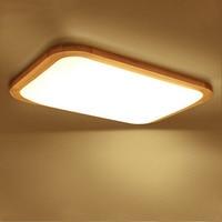 Modern LED luzes de Teto de Madeira & sombra acrílico superfície montado lâmpada Do Teto LEVOU sala de estudo/quarto luminárias