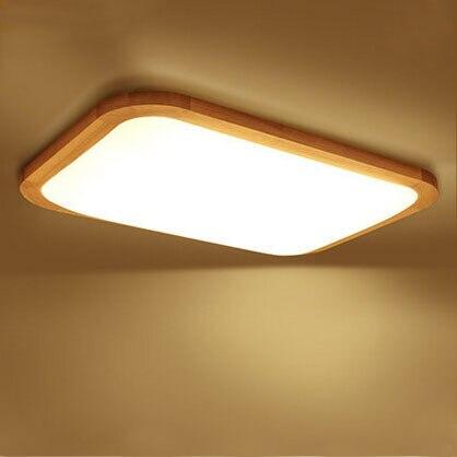 Moderne Led Decke Lichter Holz Acryl Schatten Oberflache Montiert