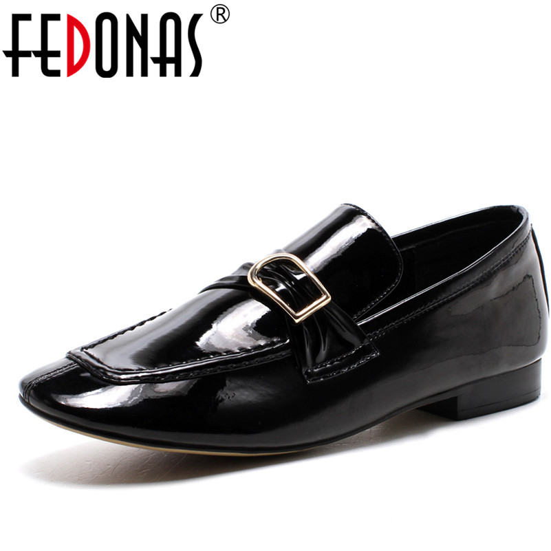 FEDONAS Brand Design Women Genuine Leather Loafer Flats Shoes Round Toe Comfortable Casual Shoes Leather Four Season Flat Shoes summer women flats new fashion pu leather shoes moccasins comfortable loafer cut outs leisure 2017 flat women casual shoes dt948