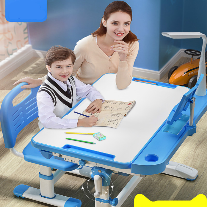 Children Study Desk And Chairs Set Home Desk Writing Desks And Chairs Combination Set Primary Students Lift Furniture