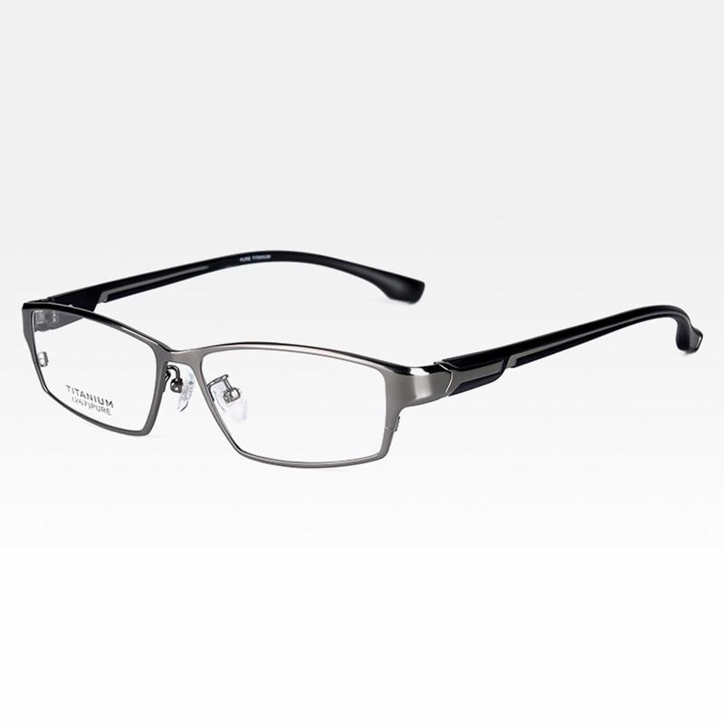 Reven Jate EJ267 moda montura de gafas para hombre Ultra liviano Flexible IP chapado electrónico Metal llanta de material gafas - 6