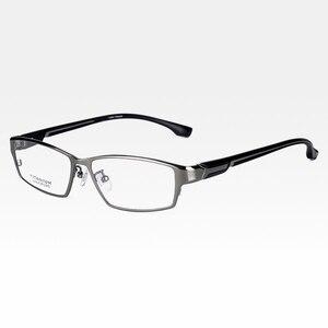 Image 5 - Reven jate ej267 moda masculino óculos quadro ultra leve ponderada flexível ip eletrônico chapeamento de metal material aro óculos