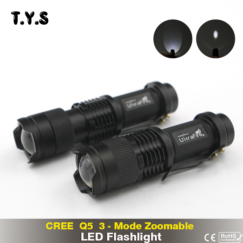 Led Q5 Flashlight Lampe Torche Militaire Camping Telescopic Baton Zoom Mini 14500 Rechargeable Battery Flash Light Led Flashlights