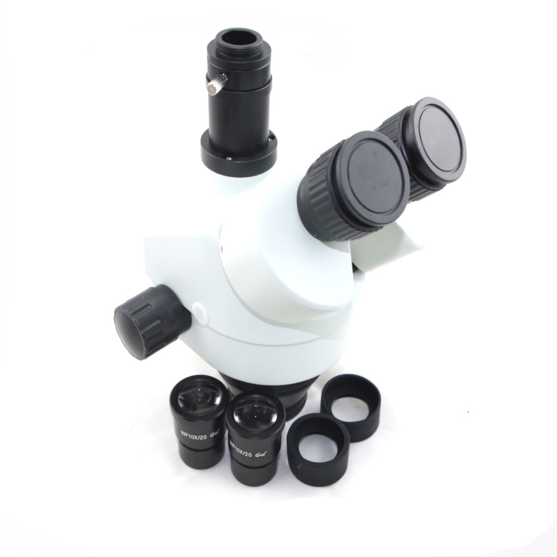 7X-45X Simul-Focal Trinocular Zoom Power Stereo Microscope Head цена