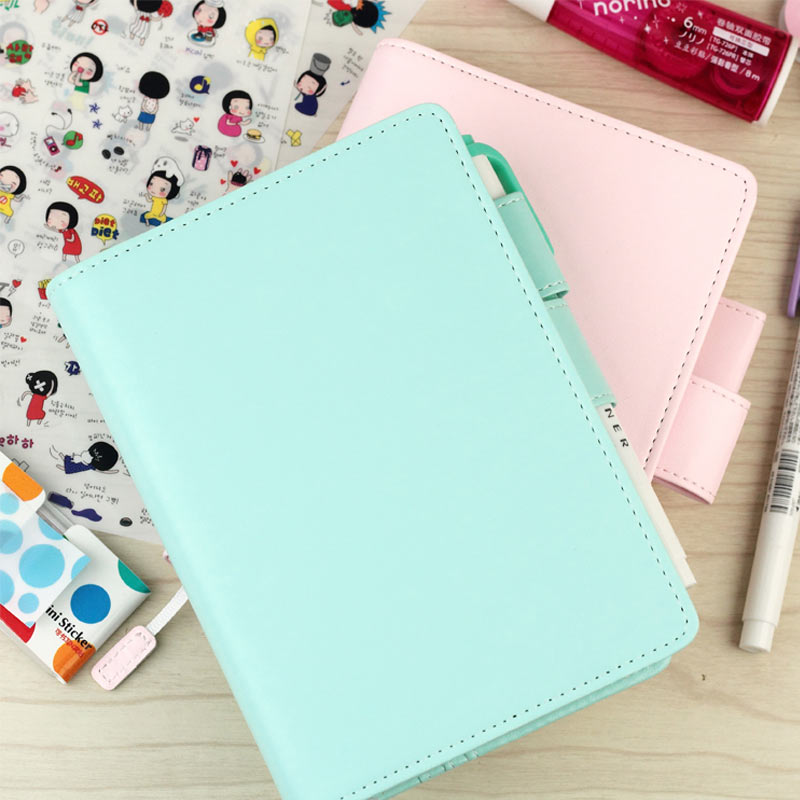 2017 Jamie Original School Notebook PU Leather Hobo Style Agenda Planner Cover Personal Diary Organizer Without