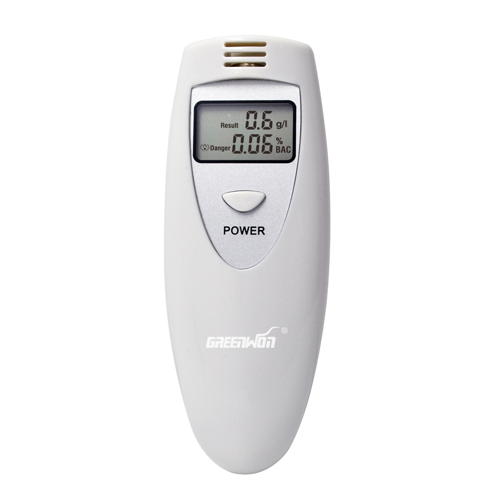Портативный анализатор дыхания спирта, цифровой алкотестер дыхания, ЖК-дисплей в двух блоках:% BAC& g/L PFT-6387