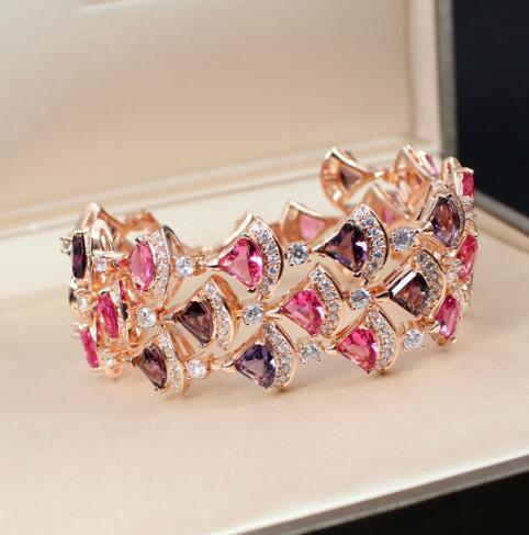 Accessoires de haute qualité et Bracelet de luxe avec le Bracelet de ventilateur plaqué Rose pour les accessoires de femmes