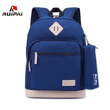 RUIPAI Nylon Children School Bags Alleviate Burdens Kids Backpack Casual School Bags for Teenagers Boys Girls Backpacks