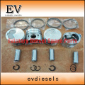 Yanmar 4TNE98 piston and piston ring set for Doosan Excavator
