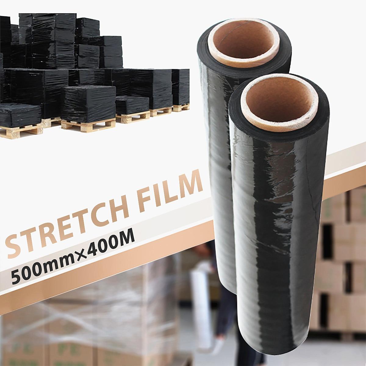 1Pcs 500mmx400M Black Stretch Film PE For Carton Pallet Shrink Wrap Packing1Pcs 500mmx400M Black Stretch Film PE For Carton Pallet Shrink Wrap Packing