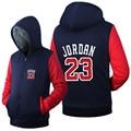 Free Shipping USA size Men Women Jordan 23 Zipper Jacket Sweatshirts Thicken Hoodie Coat Clothing Casual