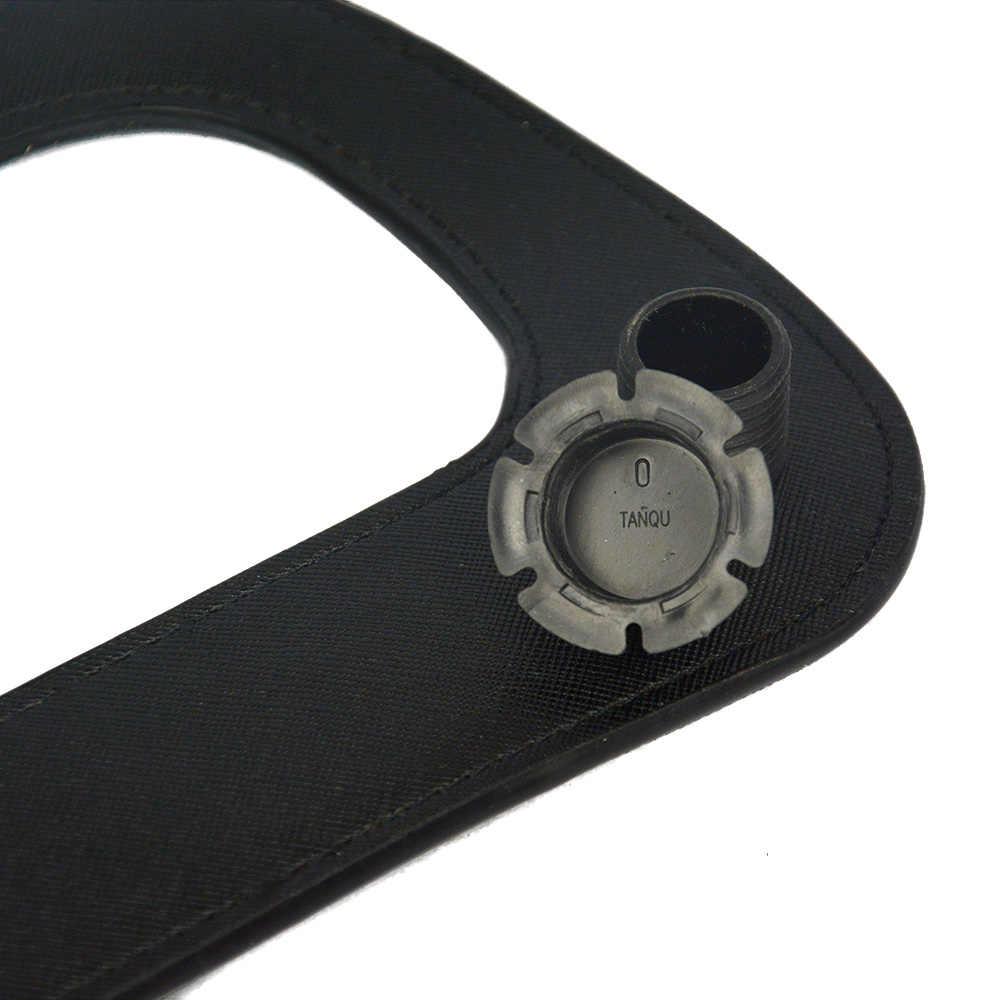 Neue Silber Gun Schwarz D Ring Große Längliche Faux Rand Malerei PU Leder Griff für Standard Obag Klassische Tasche Körper O Tasche Teile