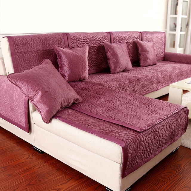 1PCS Sofa Cover Fleece Fabric Soft Anti Mite Modern Sofa Towel ...