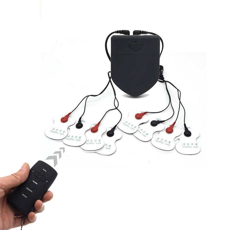 Wireless Remote Control Electro Shock Kit Electrical Shock Massager Therapy Massager Pad For Machine Health Care BDSM Sex Toys
