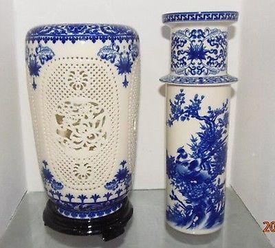 Prekrasan kineski porculan 2 postavljen dvostruko šuplje rezbarene - Kućni dekor - Foto 3