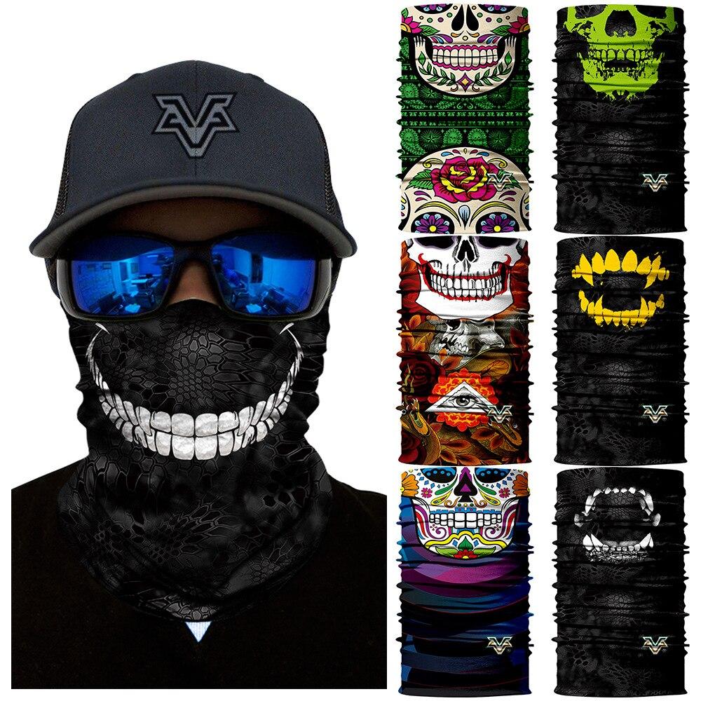3pcs Mexican flag Face Shield Fishing Sun Mask Balaclava Skull Headwear Hats