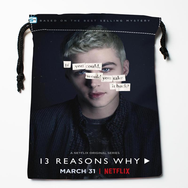 Hot Sale Custom 13 Reasons Why Drawstring Bags Custom Storage Bags Storage Printed Gift Bags More Size 27x35cm