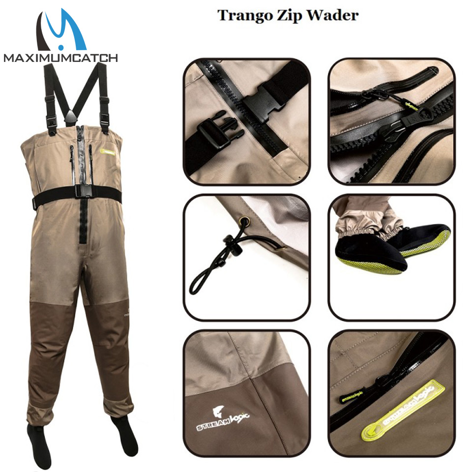 Maximumcatch Trango Fishing Wader Additional Durability in M, L, XL Size Fly Fishing Breathable Wader