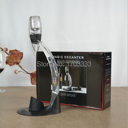 New 2016 Magic Wine Decanter Set,Red Wine Aerator Filter,Wine Essential Equipment gift with bag hopper filter and Retail box