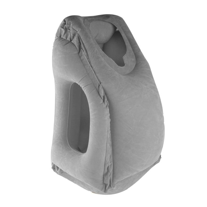Cojín inflable Cojín de viaje Almohada plegable portátil para dormir Tren de avión Cuello de viaje Soporte para la cabeza Producto de viaje