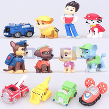 12pcs Hot Puppy Patrol Kids Toys Puppy Dogs Action Figures Canina Toys Puppy Patrol for Children Boy Gift