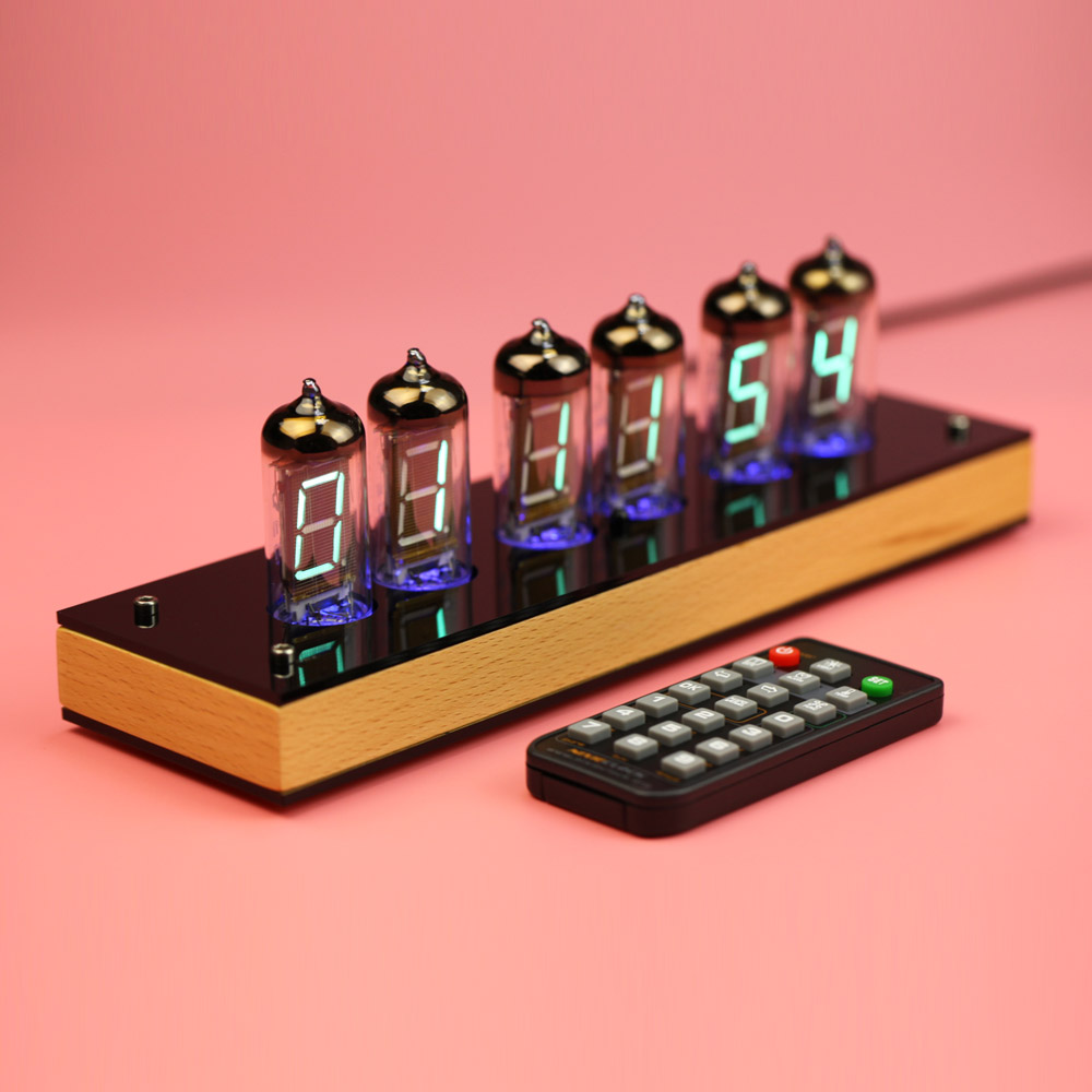 Super Sale !!! 6 Bits IV11 LED Glow Digital Clock Nixie Tube Clock Kit DIY Electronic Retro Desk Clock 5V Micro USB Powered