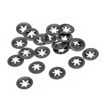 Uxcell 20pcs M3 M5 M6 M8 M10 M12 65Mn Spring Steel Lock Washer Hardware Gas Flat Shaft Fastener Internal Tooth Starlock