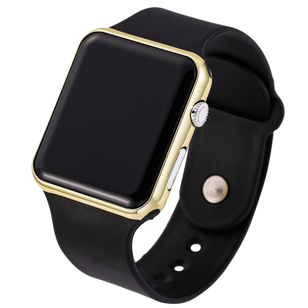 Sport LED Digital Watches Women Men Fashion Casual Electronic Watch Acrylic Band Army Military Wrist Watch Clock Reogio Feminino