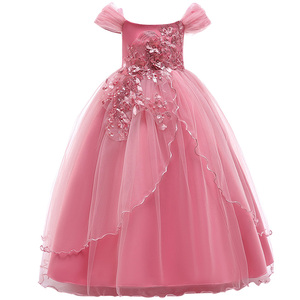 Image 4 - เจ้าหญิงดอกไม้สำหรับงานแต่งงาน Communion Gown ชุดวันเกิดสาวลูกไม้กลีบยาว Maxi ชุดงานเลี้ยง