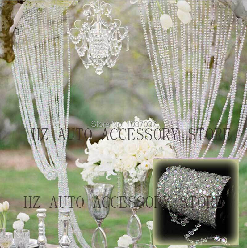 Sky candybar 30m diy iridescent garland diamond acrylic crystal sky candybar 30m diy iridescent garland diamond acrylic crystal beads strand shimmer wedding decoration free shipping in party diy decorations from home junglespirit Gallery