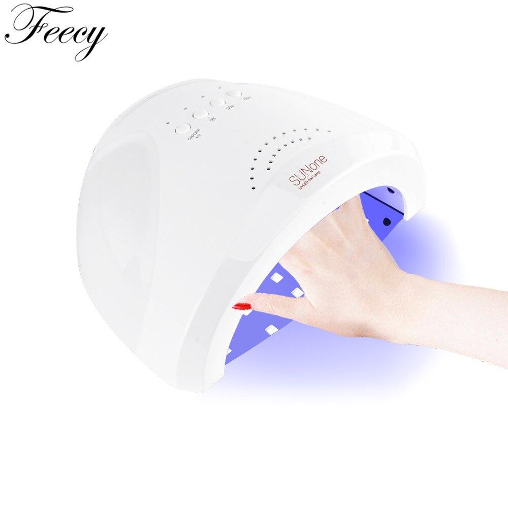 Lámpara para Gel esmalte De uñas Sun One lámpara De hielo para uñas 48 W sol UV Secador De uñas lámpara De hielo Feecy