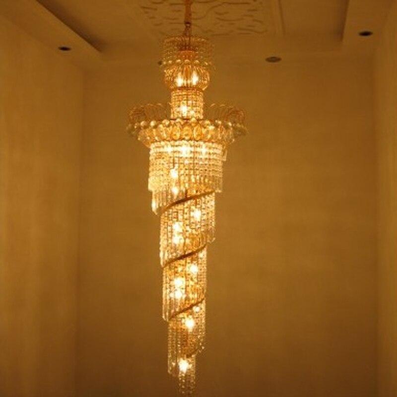 Contremporary люстра кристалл лампы лобби люстры High End класса люкс светодиодные люстры висит блеск лампы avize свет