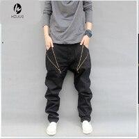 Men S Clothing Fashion Casual Hip Hop Harem Cross Baggy Pants Men Drop Crotch Pants Pantalones