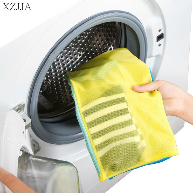 XZJJA Bilateral Zipper Laundry Bags Clothing Underwear Bra Socks Washing Pouch Washing Machine Bag Zipper Protector Net Case