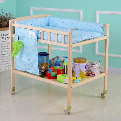 Baby diaper table solid wood environmental massage nursing table newborn baby changing clothes bath touch table