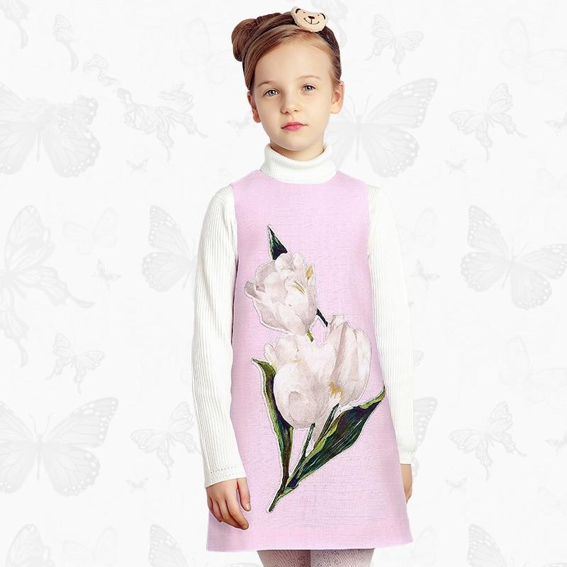 Toddler Girls Dresses Children Clothing 2017 Brand Princess Dress for Girls Clothes Fish Print Kids Beading Dress 1 20 1 pc fish print quilt