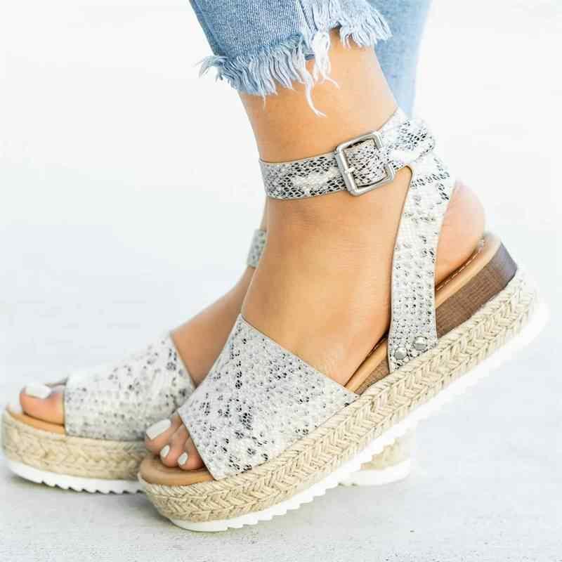 c17ae5c35 ... Cunhas Sapatos Para As Mulheres sapatos de Salto Alto Sandálias Sapatos  Femininos de Verão 2019 Sandálias ...