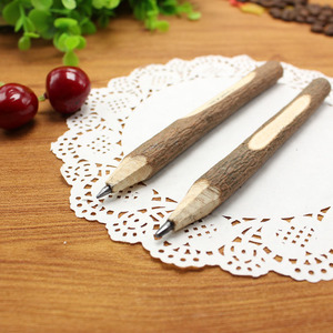 Image 3 - 36pc/lot Environmental protection wooden ball point pen / nature branch pencil / bark pen / degradable pen